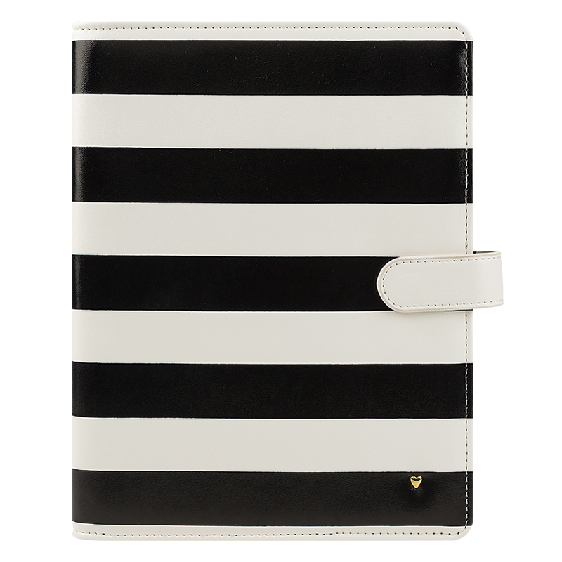 Classic Planner Love Simulated Leather Wire-bound  Cover - Striped