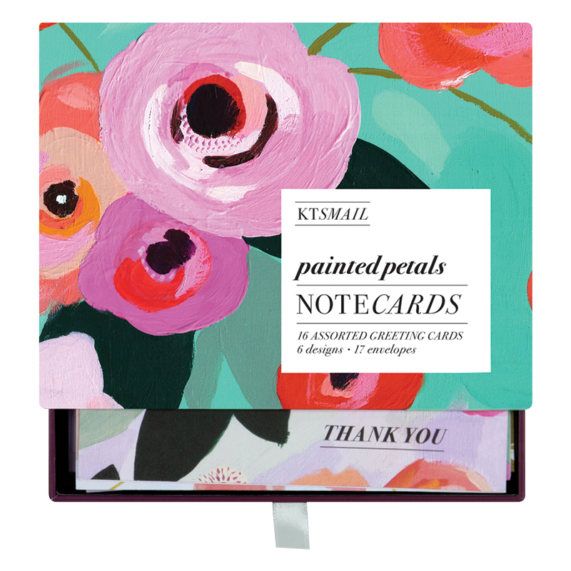Painted Petals Assorted Greeting Cards