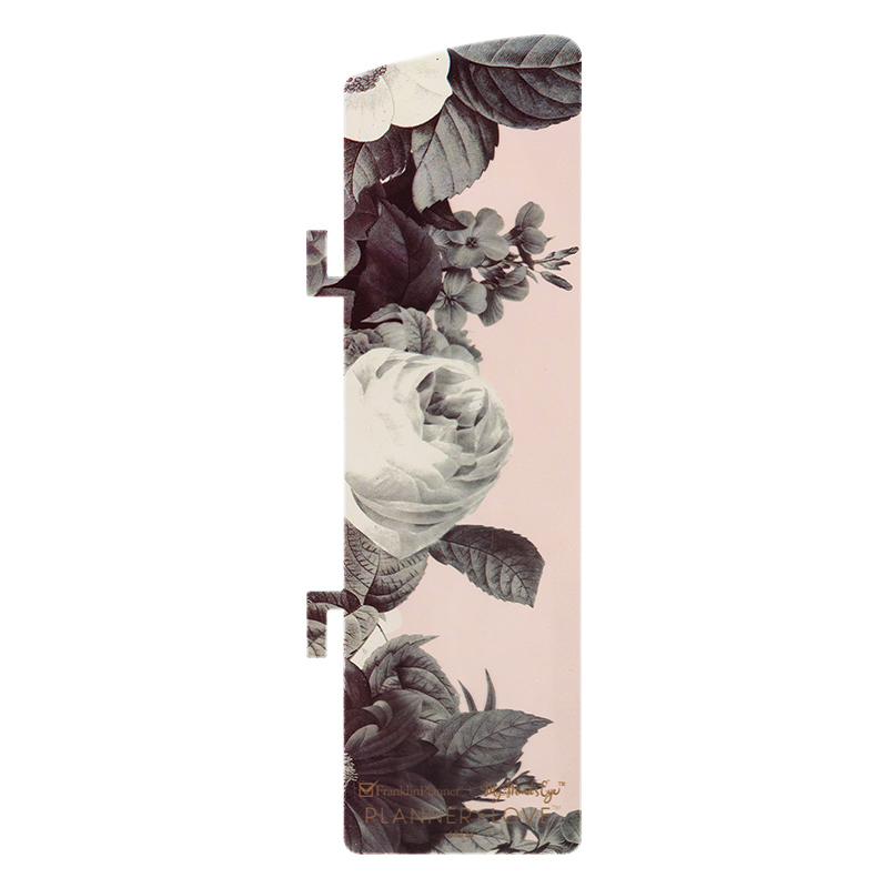 Classic Planner Love Wire-bound Pagefinder - Black and White Floral