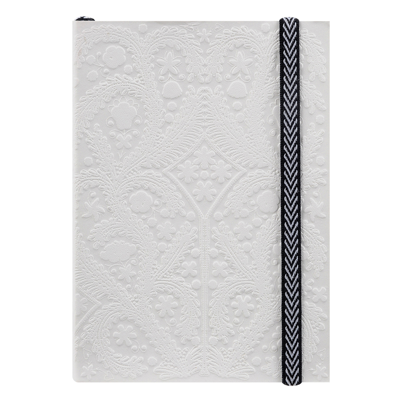 Embossed Paseo A6 Notebook - White