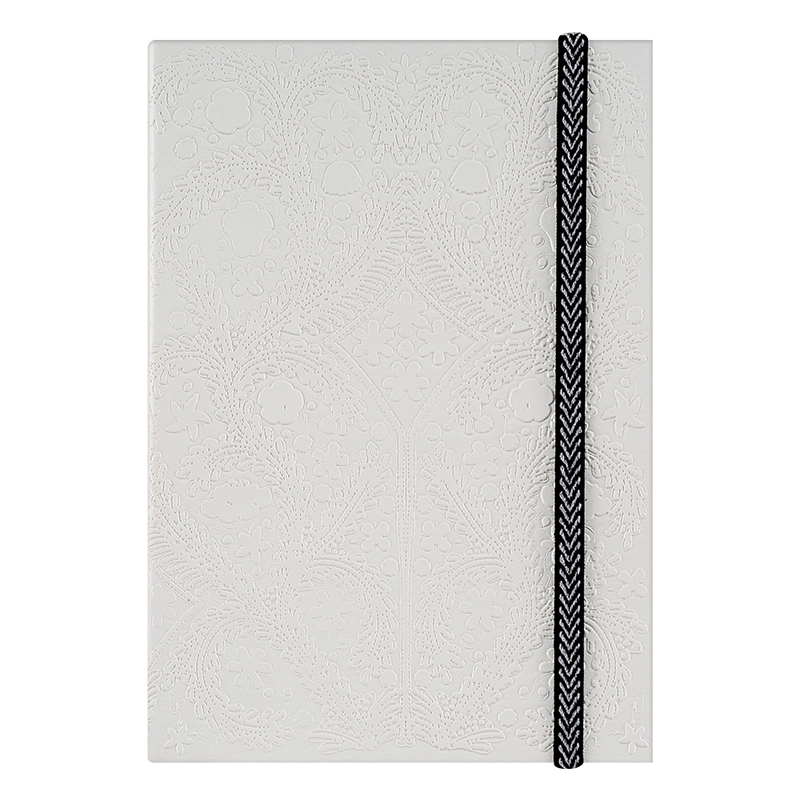 Embossed Paseo A5 Notebook - White