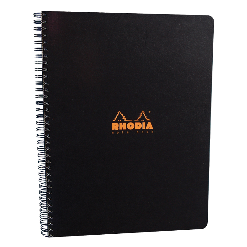 Lined Notebook 9X11.75 - Black