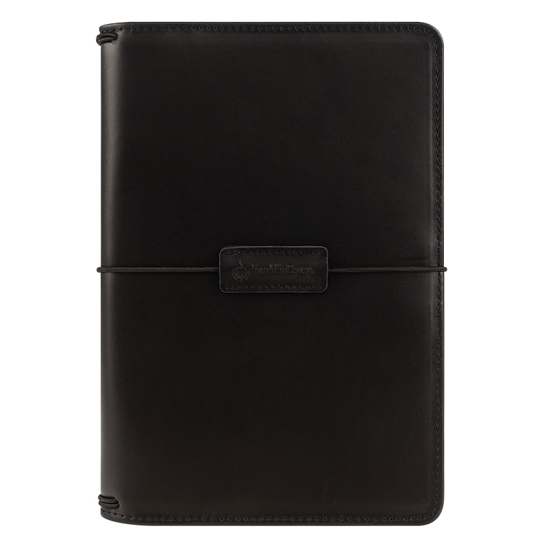 Classic Leather Elastic Travelers Cover - Black