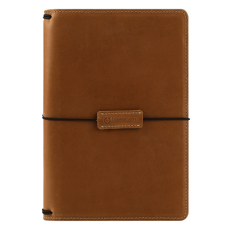 Classic Leather Elastic Travelers Cover - Tawny