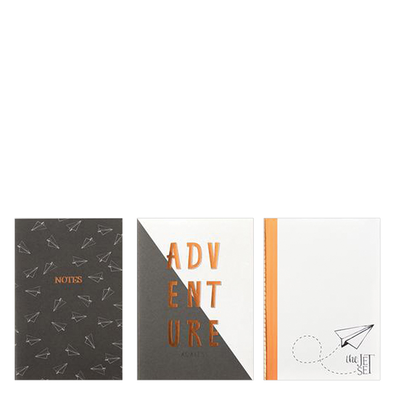 Designer Notebooks 3 Pack - Paper Airplanes
