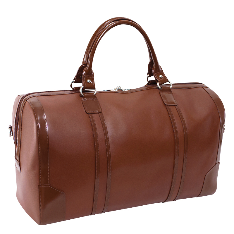 Kinzie Carry-all Leather Duffel - Brown