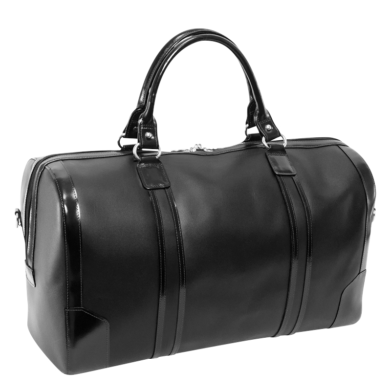Kinzie Carry-all Leather Duffel - Black