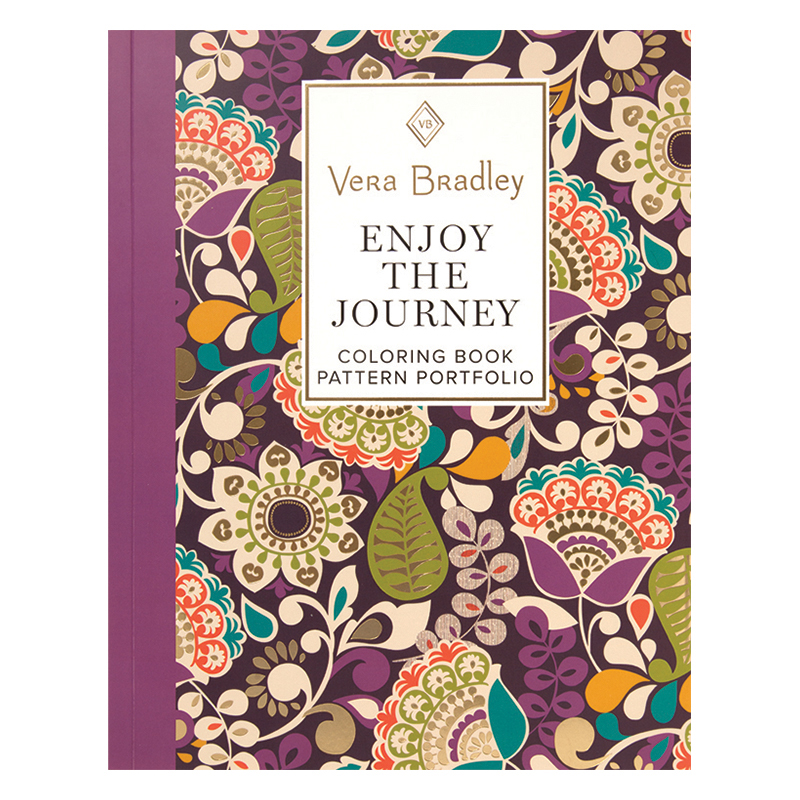 Vera Bradley Enjoy the Journey Coloring Book