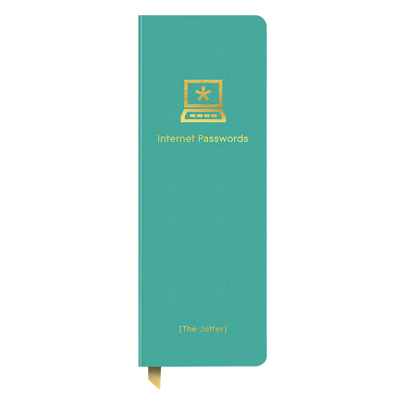 Internet Passwords Leatheresque Jotter - Turquoise
