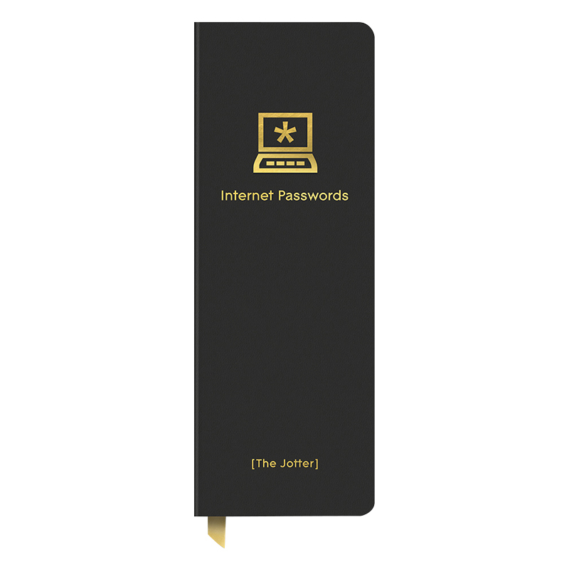 Internet Passwords Leatheresque Jotter - Black