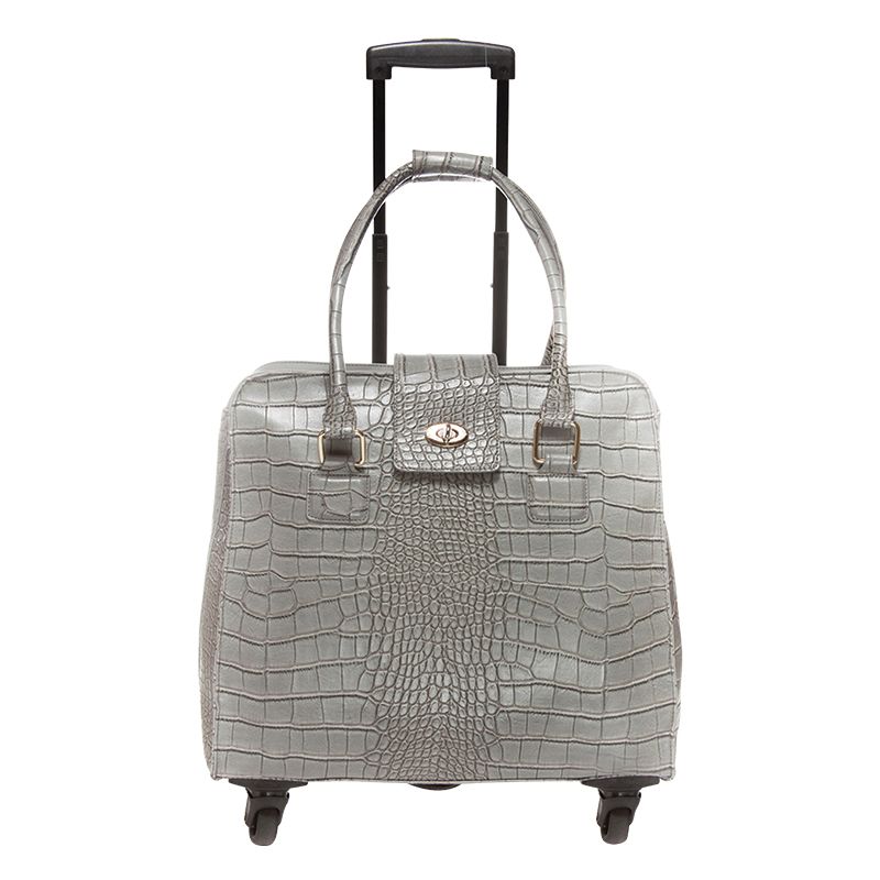Crocodile Trolley Bag - Grey