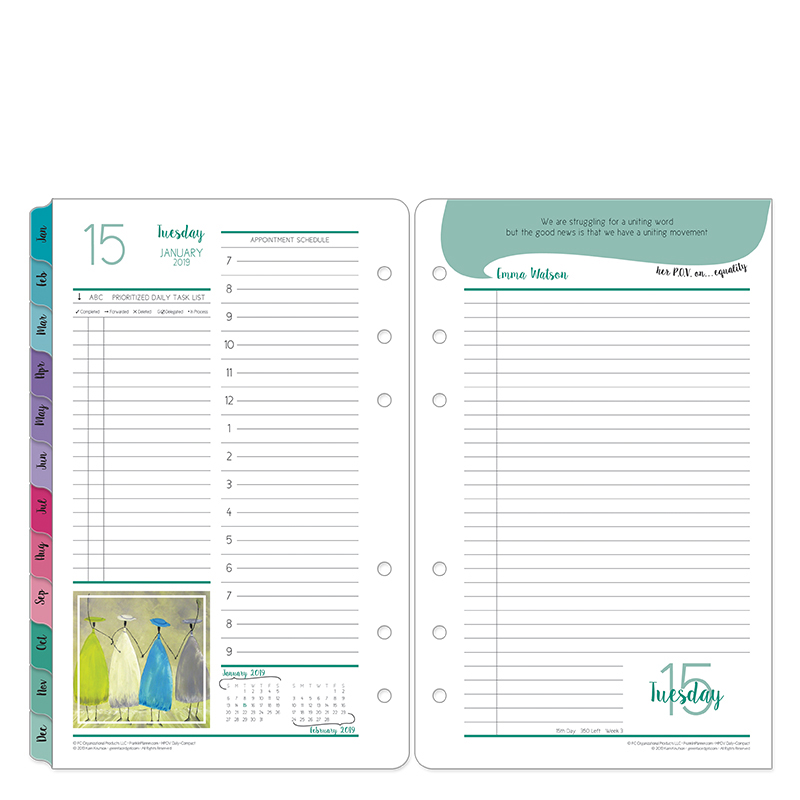 Compact Her Point of View Daily Ring-bound Planner - Jan 2019 - Dec 2019