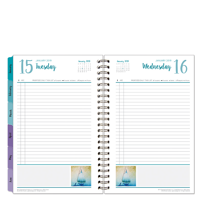 Classic Her Point of View One-Page-Per-Day 6 Month Wire-bound Planner - Jan 2019 - Jun 2019