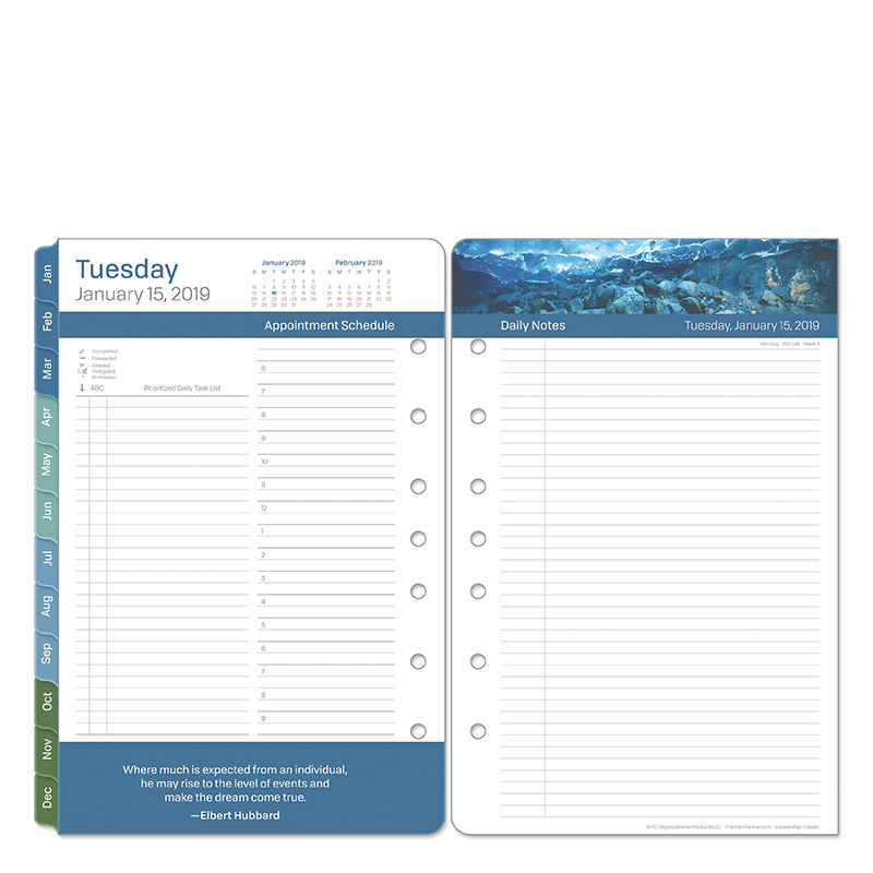 Classic Leadership Daily Ring-bound Planner - Jan 2019 - Dec 2019