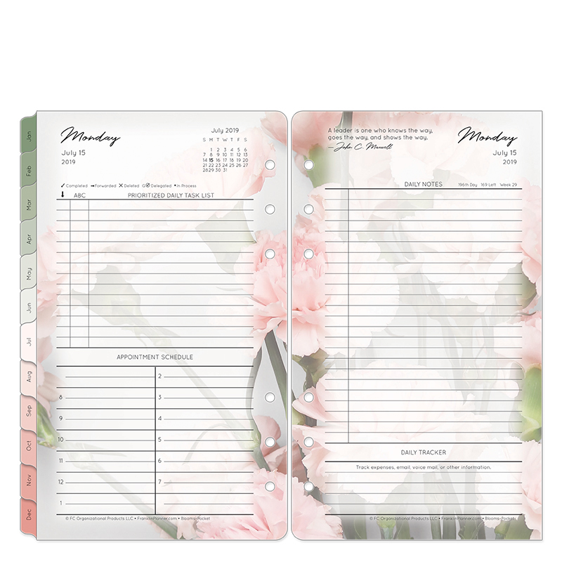 Pocket Blooms Daily Ring-bound Planner - Jul 2019 - Jun 2020