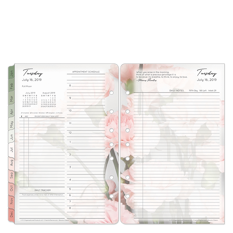 Classic Blooms Daily Ring-bound Planner - Jul 2019 - Jun 2020