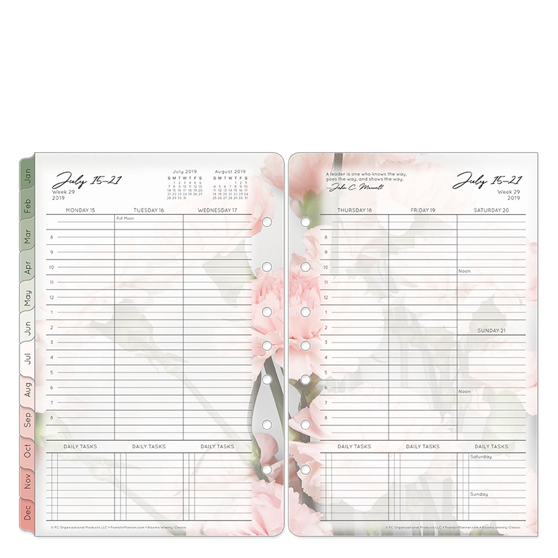 Classic Blooms Weekly Ring-bound Planner - Jul 2019 - Jun 2020