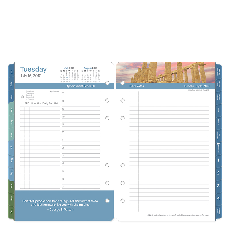 Compact Leadership Daily Ring-bound Planner - Jul 2019 - Jun 2020