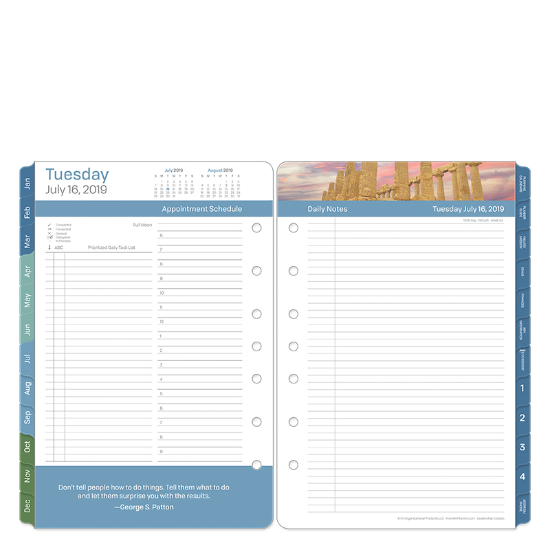 Classic Leadership Daily Ring-bound Planner - Jul 2019 - Jun 2020