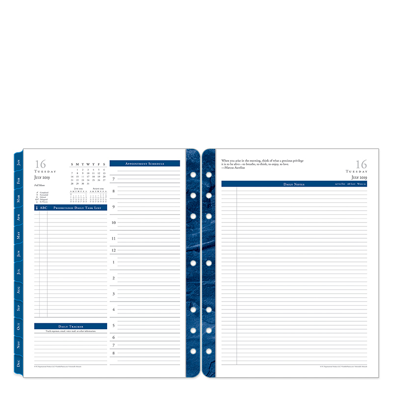 Monarch Monticello Daily Ring-bound Planner - Jul 2019 - Jun 2020