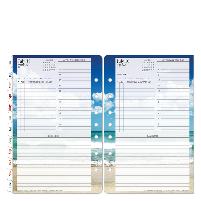Classic Seasons One-Page-Per-Day Ring-bound Planner - Jul 2019 - Jun 2020