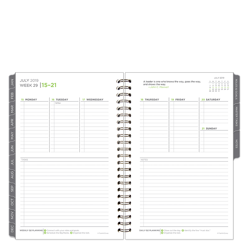 Classic The Five Choices Weekly Wire-bound Planner - Jul 2019 - Jun 2020
