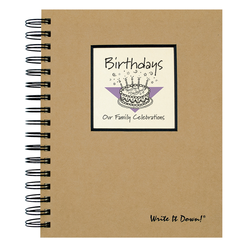 Write It Down Journal - Birthdays