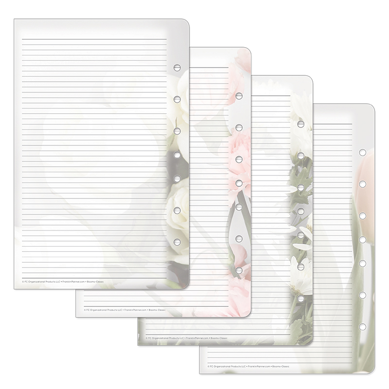 Classic Blooms Lined Pages  - Pink/Green