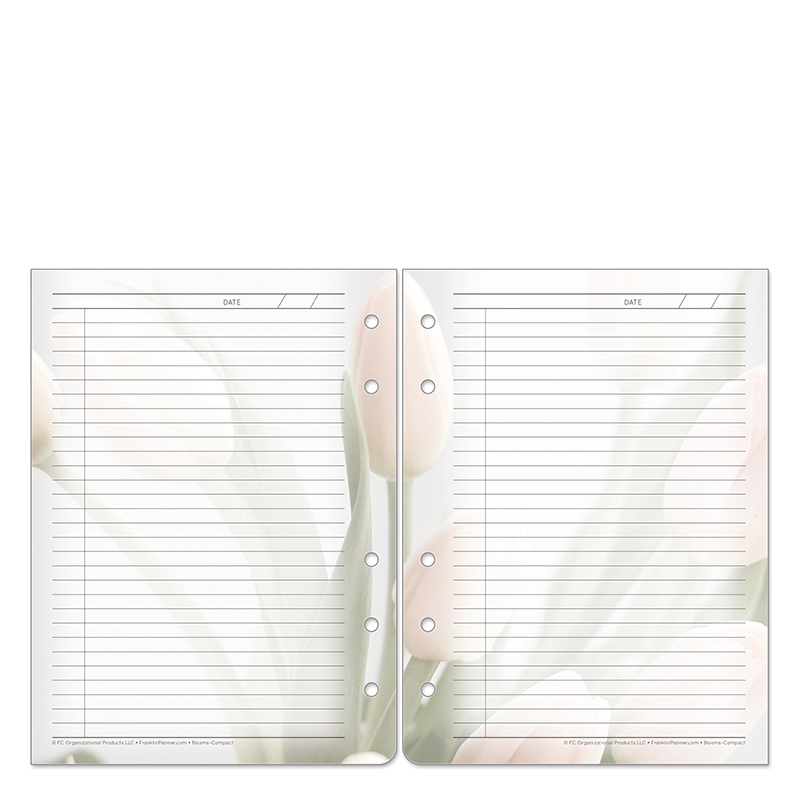 Compact Blooms Cut-Away Daily Notes  - Pink/Green