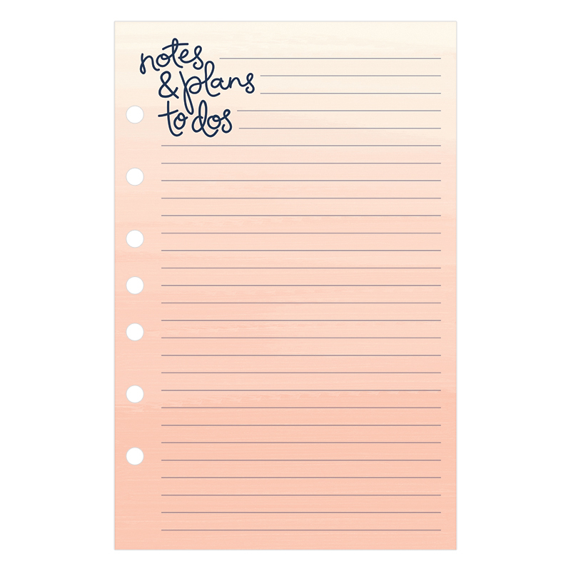 Classic Planner Love Lined Notepad - Brushed