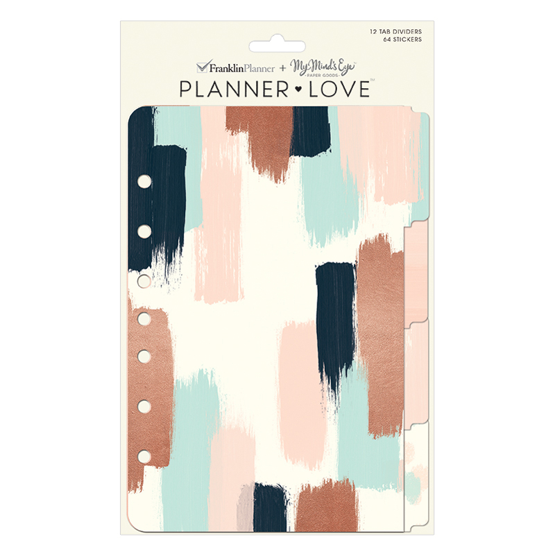 Classic Planner Love Tab Dividers - Brushed