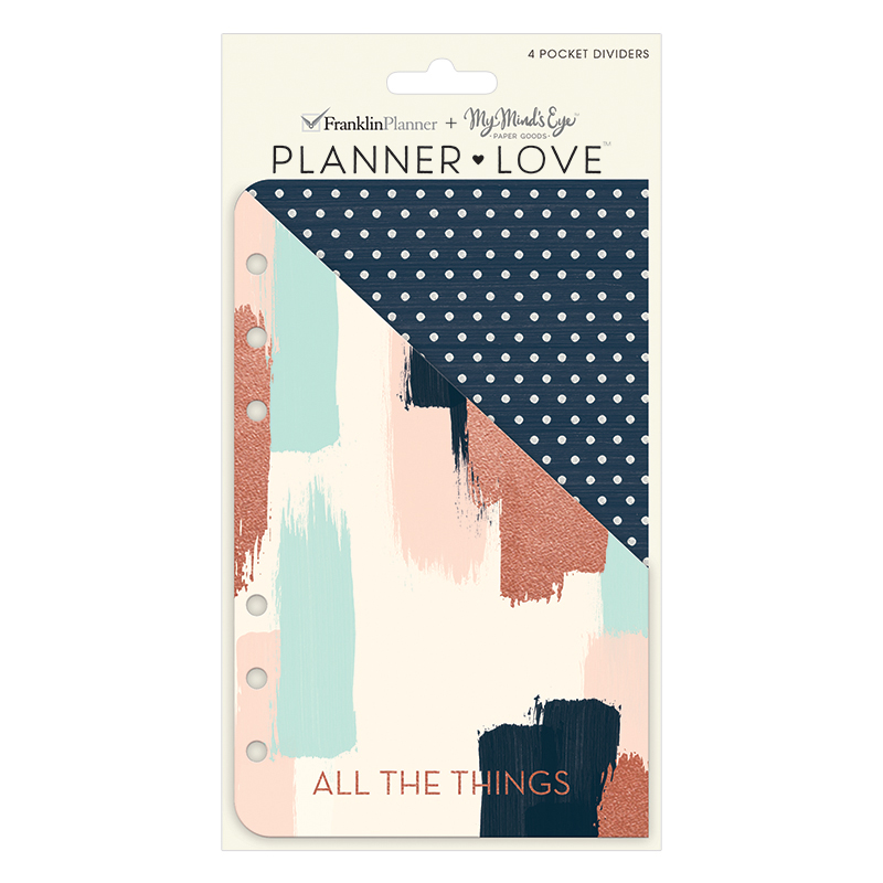 Compact Planner Love Pocket Dividers - Brushed