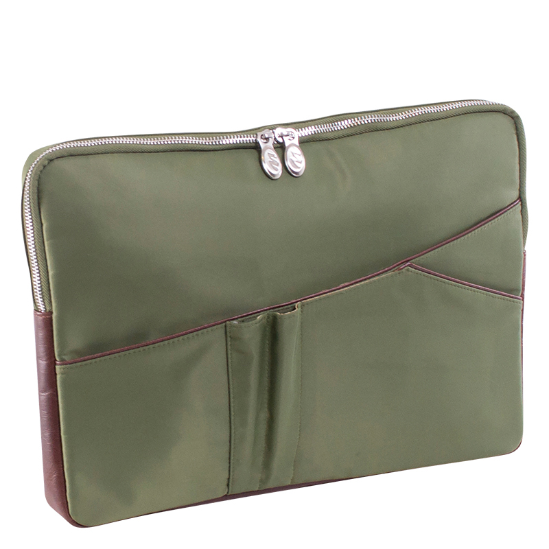 "Crescent Nylon 14"" Laptop Sleeve - Green"