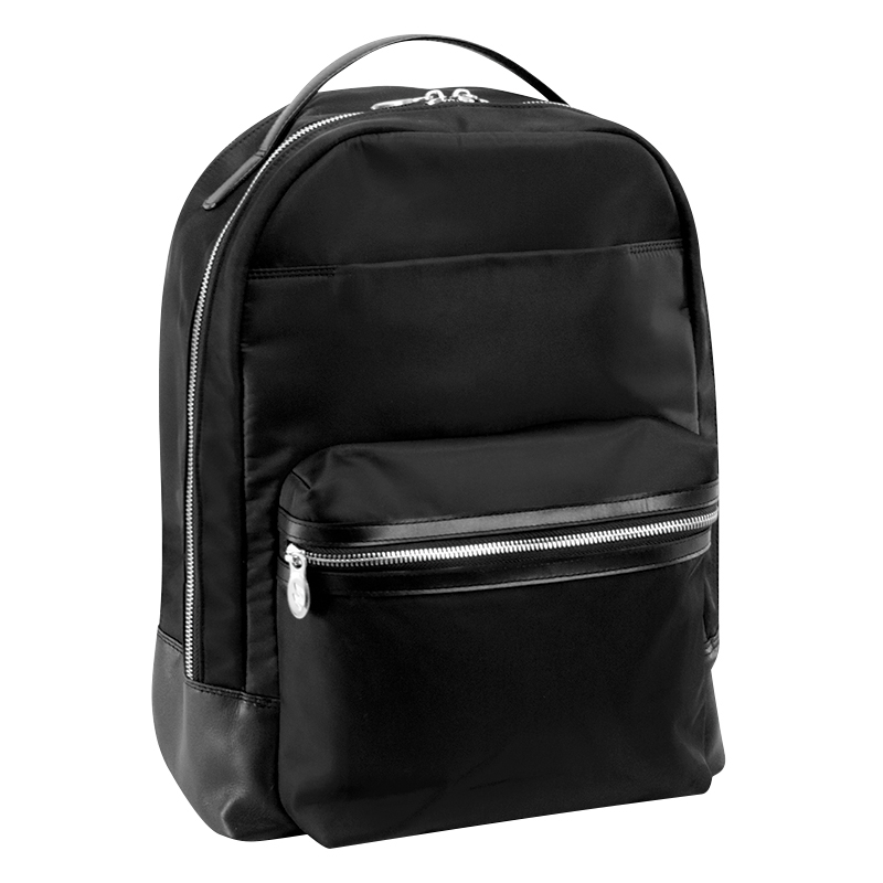 Parker Nylon Backpack - Black