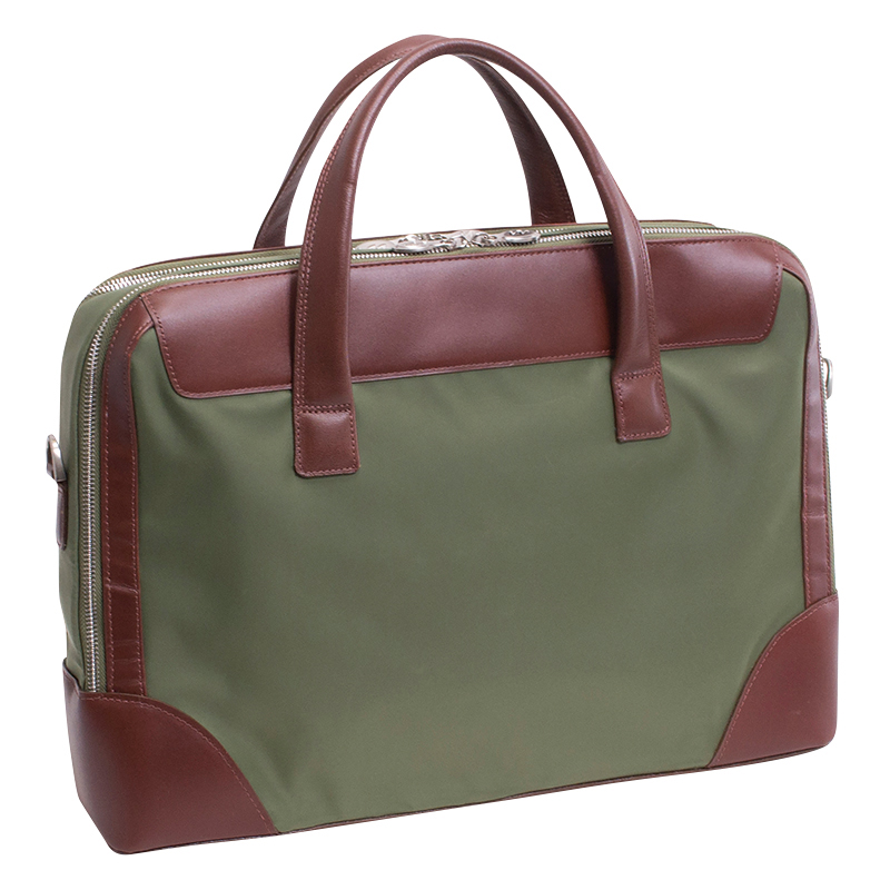Harpswell Nylon Briefcase - Green