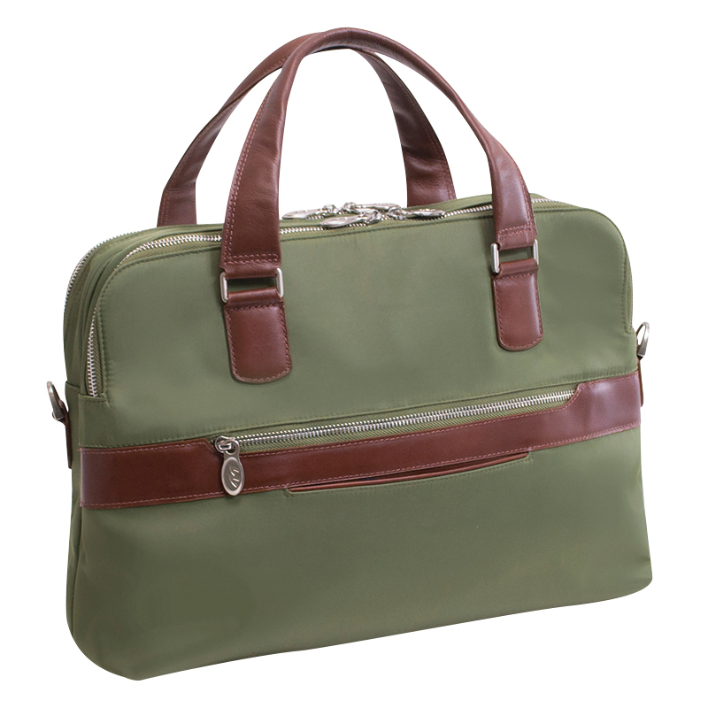 Hartford Nylon Briefcase - Green