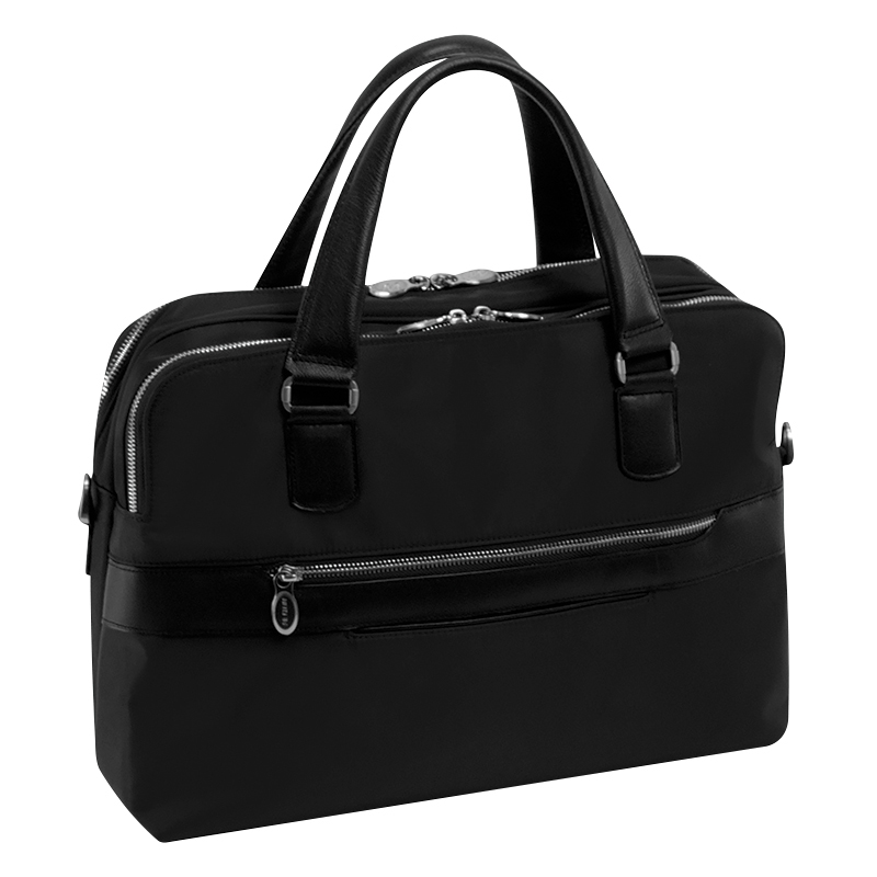 Hartford Nylon Briefcase - Black