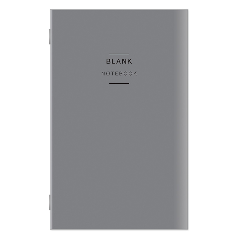 Classic Travelers Blank Notebook - Gray Cover
