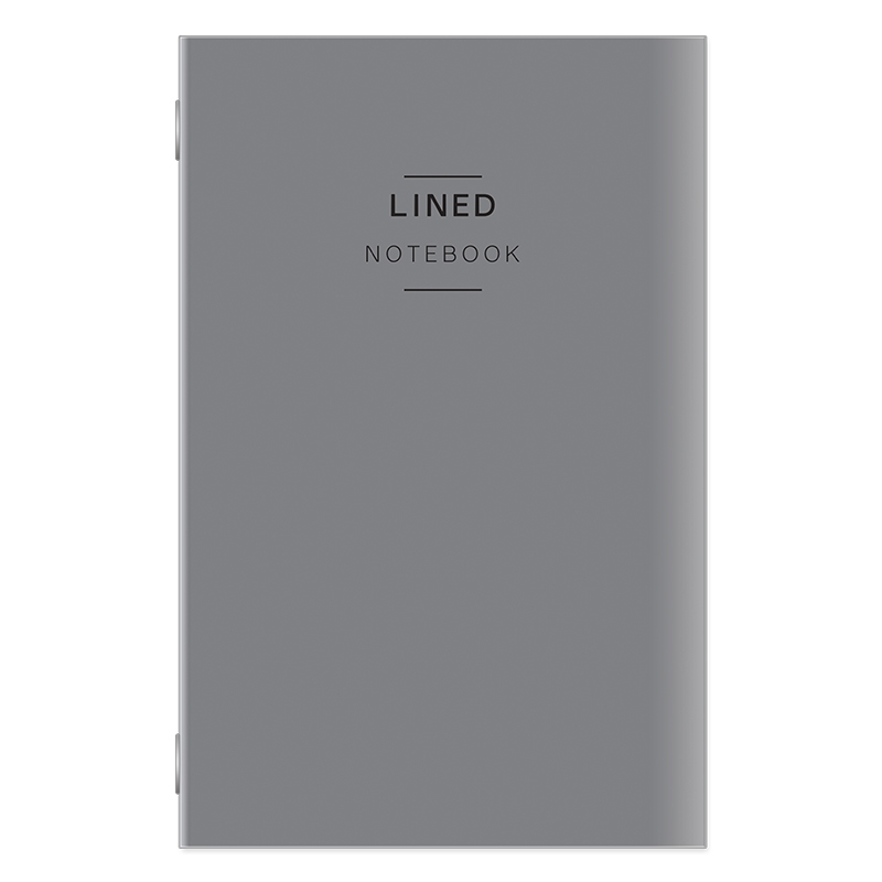 Classic Travelers Lined Notebook - Gray Cover