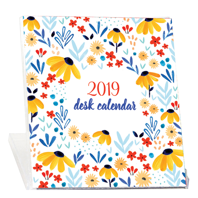 2019 Desk Calendar - Julies Flowers