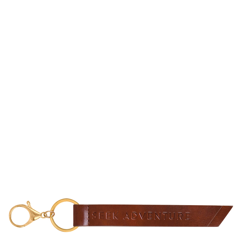 Deluxe Tab Keychain - Brown