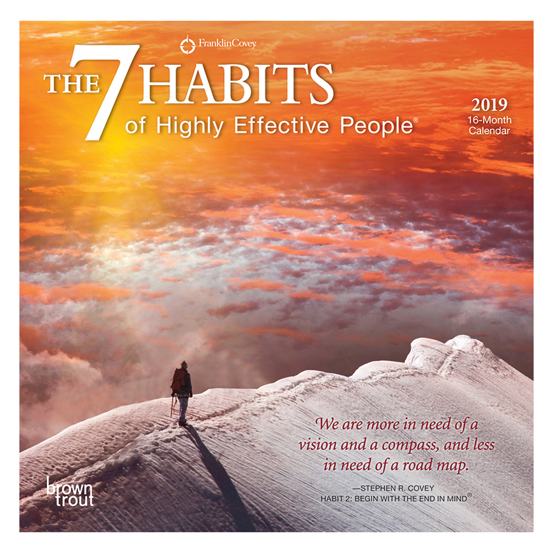 The 7 Habits of Highly Effective People 2019 Mini Calendar