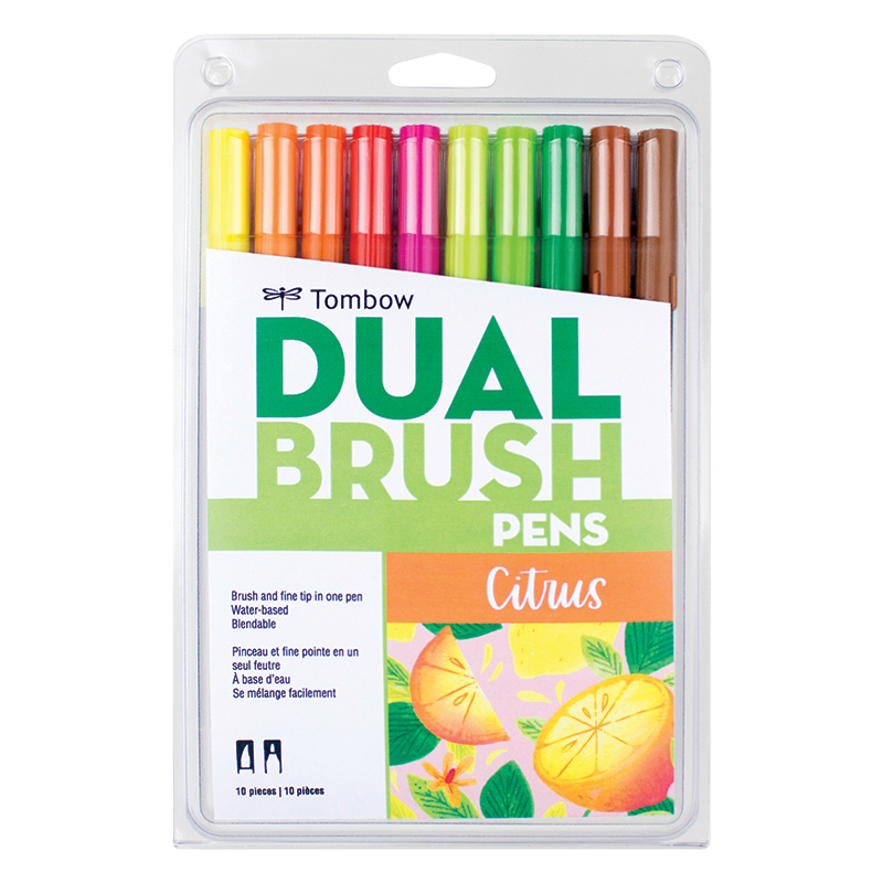 Dual Brush Pens - Citrus