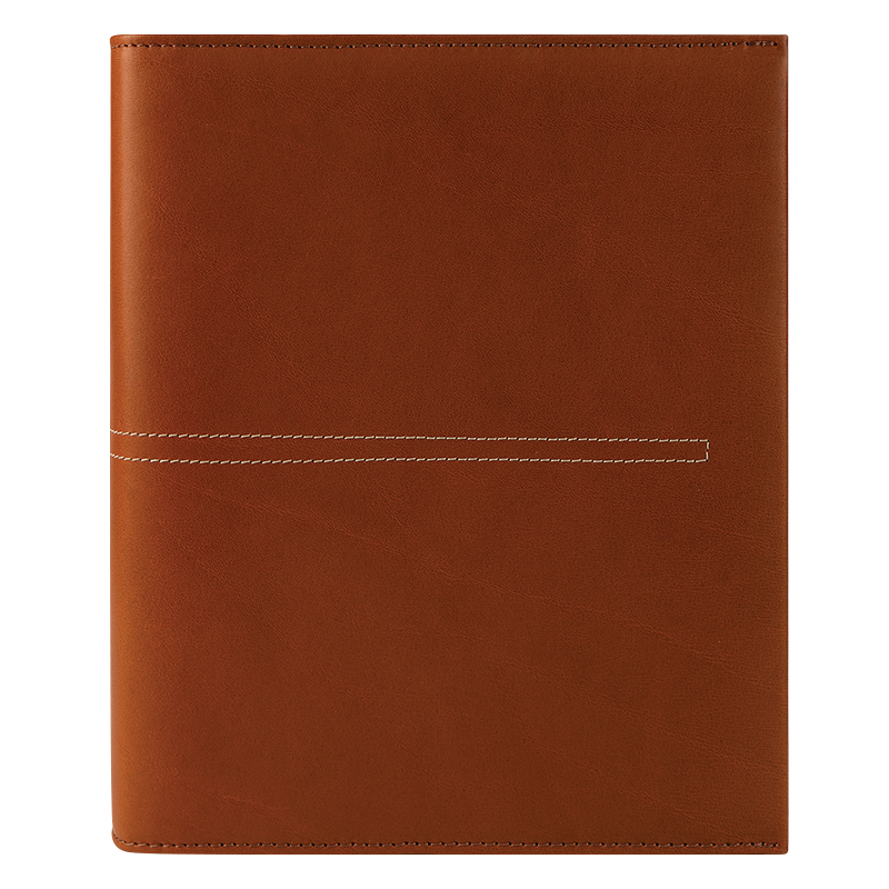 Classic Ryder Leather Open Binder - Tan