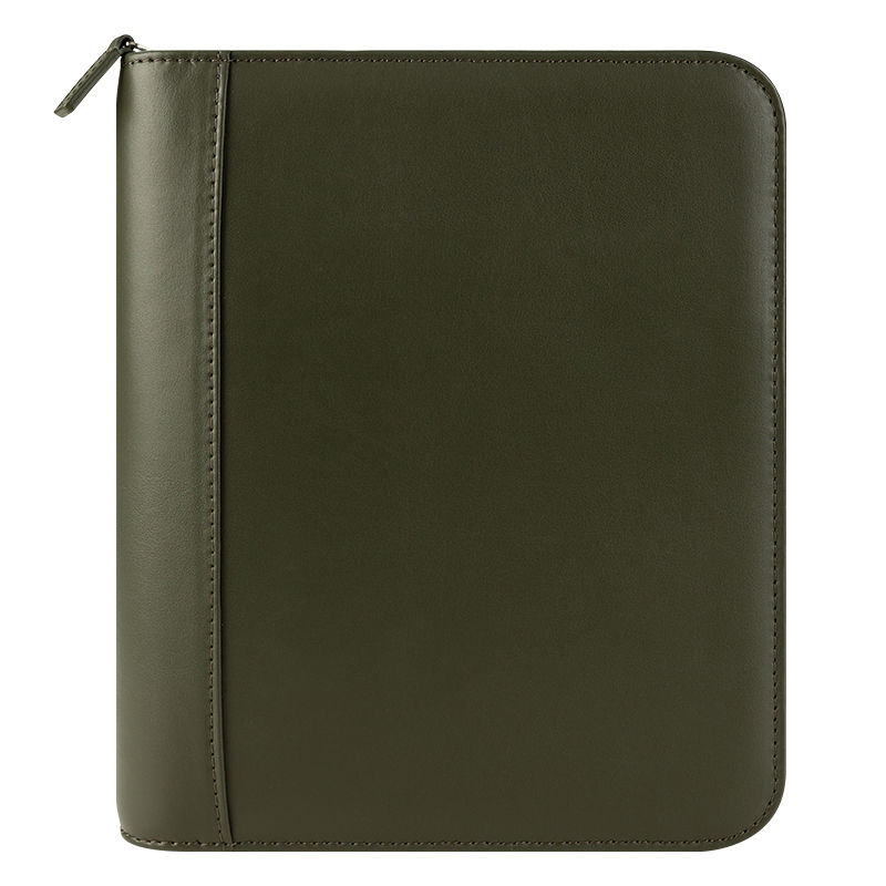 Fc Signature Leather Zipper Binder Franklinplanner