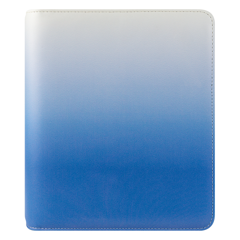 Classic Savannah Simulated Leather Open Binder - Sky Blue