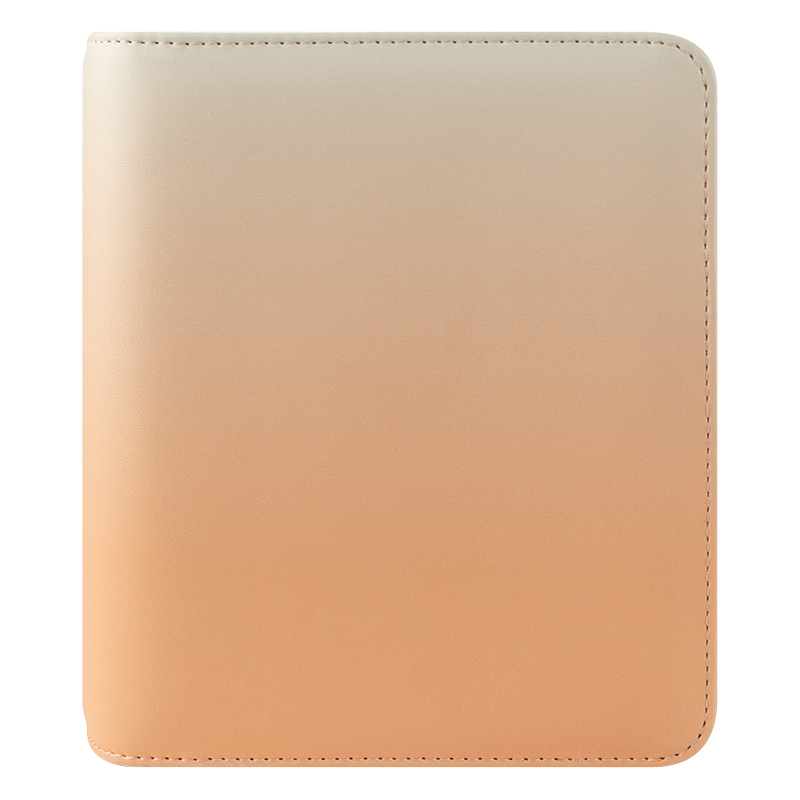 Compact Savannah Simulated Leather Open Binder - Apricot