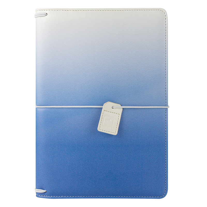 Classic Savannah Simulated Leather Elastic Travelers Cover - Sky Blue