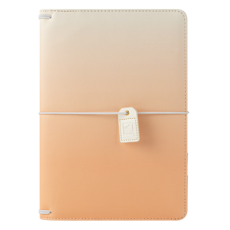 Classic Savannah Simulated Leather Elastic Travelers Cover - Apricot