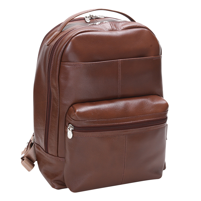Parker Leather Backpack - Brown